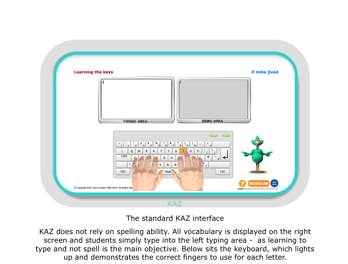 Kaz :: Typing Tutor for Schools and Education / Learn to Type in Schools