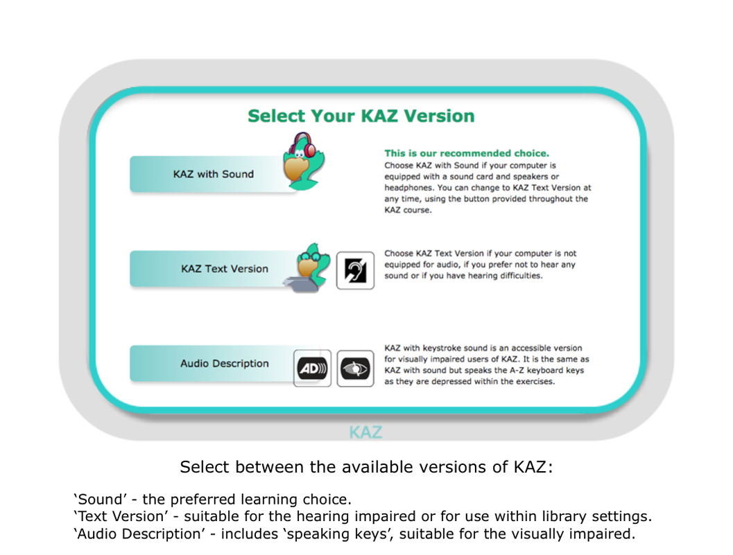 KAZ HOME EDITION - KAZ Typing Tutor